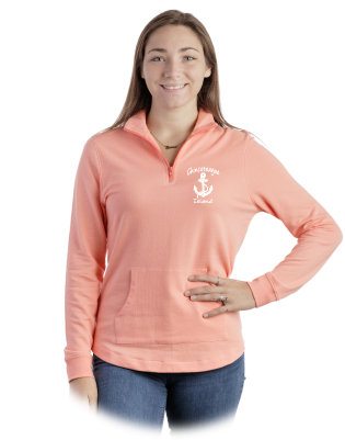Ladies Quarter Zip Cadet w/Scallop Bottom